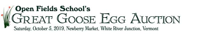 Open Fields Great Goose Egg Auction 2019